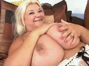 Chubby granny with huge boobs has fun w young guy