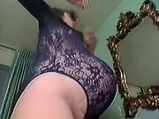 Pregnant milf in lingerie seduces amateur guy
