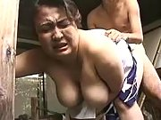 Big Japanese woman fucks n gets cum