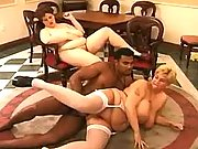 Hot fatties enjoy blackie