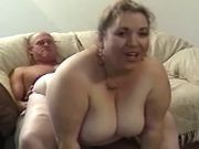 Older man fucks chubby blonde girl