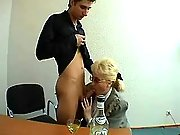 Mature fat secretary seduces amateur guy