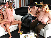 The skinny guys get drunk with the fat sluts and they get laid with cock pumping wet pussy