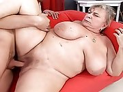 Mature BBW purchases some  young rough cock deep inside her twat