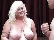 Pervy blonde fattie hooks up with a sex toy repairman getting her hole pounded