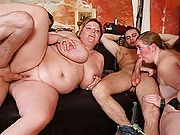 A great orgy with fat girls and eager young guys at the bar is so much fun to watch