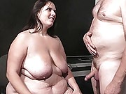 Nasty BBW door guard has guy pound her hole in exchange for letting him in
